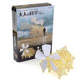 Szélüzemű Walker Walker szélmalom Mini Strandbeest barkácsolási modell építő készlet játék ajándék
