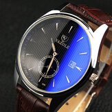 YAZOLE 306 Mannen Mode Casual Luminous Hands Kalender Leather Quartz Watch