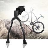 حامل الدراجة الخلفي من BIKIGHT المعدني ذو الأرجل المزدوجة Kickstands الربيعي الخلفي لدراجة الطريق مقاس 19-28 بوصة