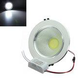 12W COB LED Tavan Aşağı Işık Gümüş Kabuk Kemer Sürücü 85-265V