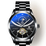 TEVISE 8378F Skeleton Date Display Automatische mechanische Uhr Full Steel Men Wrist Watch