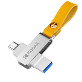 KODAK USB3.0 Type-C Two in One Flash Drive Pendrive Dual Interface USB Disk Portable Thumb Drive Design rotante a 360 °