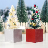 2pcs Mini Christmas Tree Mall Home Office Decorations Tree Ornament Creative Gifts Tree Crafts Children Toys
