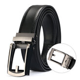 Men Casual Outdoor Automatic Buckle Leather Belt