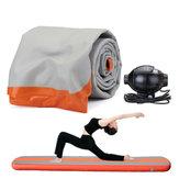 118x16x6inch Tapis Gonflable à Air d'Entraînement Pratique Pad de Rouleau pour Gymnastique