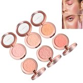 6 colori Rose Trucco Face Blush Brighten Face Fine Powder