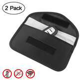 2 Pack Signal Blocking Bag GPS RFID Faraday Bag Cell Phone Privacy Protection Shield Cage Pouch Wallet Phone Case Cell DOOGEE S88 Plus case