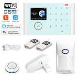 Tuya Wireless Home Security Burglar WiFi GSM Alarm System Kit App Remote Control Support Alexa and Google Assistant