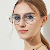 Damskie owalne okulary przeciwsłoneczne w stylu vintage