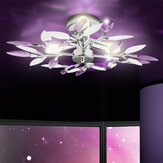 Modern Art LED Ceiling Lamp Chandelier Crystal Leaves Lamp Light Living Room Without Bulb