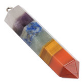 7 Chakra Guérison Baguette Layered Crystal Faceted Stick Healing Balancing Pendants