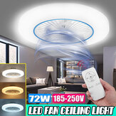 72W LED Ceiling Fan Light Modern Chandelier Living Room Bedroom Dimmable Remote
