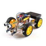 Small Hammer SNAR38 4WD Robot Car Kit Bluetooth Remote Tracking Obstacle Avoidance Car DIY Kit
