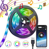 1/3 / 5M USB Waterpoof 5050 LED Tira de luces RGB Music Backlight bluetooth APP Control remoto Decoraciones navideñas Liquidación Luces navideñas