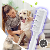 Esterilização para animais de estimação Massagem Pente inteligente para desodorização com ozônio Cachorro Cat Health com esterilização eficiente Pente removível para limpeza TYPE-C
