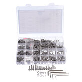 Suleve MXSH7 1220Pcs Stainless Steel Hex Socket Cap Head Screws Bolt Nuts Washers Assortment Kit M2 M3 M4 M5