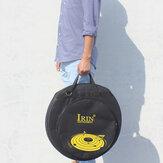 IRIN Prato de 21 polegadas Bolsa Mochila para pratos de 21 polegadas Três bolsos com alça de ombro removível e divisória Carregando Bolsa