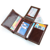 RFID Blocking Leather Vintage Multi-Card Slots Wallet