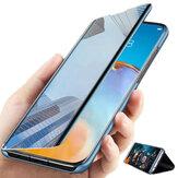 Bakeey POCO X3 NFC Kılıf Katlanabilir Flip Kaplama Ayna Pencere Görünümü Darbeye Dayanıklı Tam Kapak Koruyucu Kılıf Orijinal değil