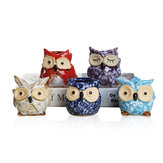 Porcelain Animal Vase Series Mini Pots Ornaments Cute Owl Multi-flower Pots Suit Exquisite Small Home Decor