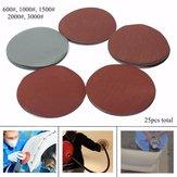 25pcs 600-3000 grit 6 polegadas disco de lixar lixa