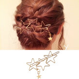 De moda Cabello Accesorios Hollow Five Point Stars Cabellopin