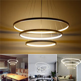 LED Ceiling Pendant Dimming Ring Light Holder lampada Shade Fixture Home Living Room Decor AC220V