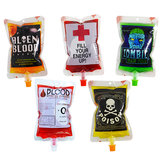 1PCS многоразовый напиток энергии крови Сумка Хэллоуин мешок реквизит вампир косплей 250 мл украшения игрушки