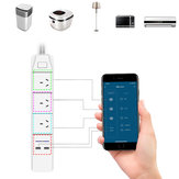 DHEKINGD D803 Smart WiFi APP Control Power Strip with 3 AU Outlets Plug 2 USB Fast Charging Socket App Control Work Power Outlet