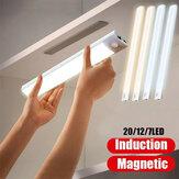 LED Night Light Motion Sensor Luzes do armário sob a luz do armário Wireless Stick-Anywhere Night Safe Light Bar com grande Bateria para escadas Guarda-roupas Corredor de cozinha