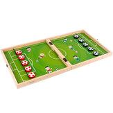 3 in 1 set di scacchi da calcio in legno squisita conservazione Scatola scacchi da calcio scacchi da volo set gobang per giochi da tavolo genitore-figlio giochi da tavolo