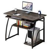 Wooden Computer Desk Study Laptop PC Workstation Writing Tray Table Home Office Desk