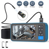 MS450 8mm Dual Lens 1080P Industrial Borescope 4.5 Inch Screen Waterproof Snake Camera with 6 LED For Pipeline Drain Sewer Inspection Cam