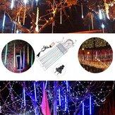 10tubes 30cm 300 LED pluie de météores pluie lumière Noël noël arbre décor avec chauffeur nous plug