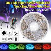 Waterproof USB 5050 RGB LED Strip Light Color Changing Tape Flexible Kitchen Lamp DC5V + 44Keys Remote Control