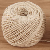 100M Cotton String Rope Twisted Braided Cord Craft Macrame 1mm