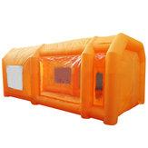 Giant Workstation Opblaasbare Spray Verf Booth Tent Custom met 2 STKS Blower 110 V 6 * 3 * 2.5 m