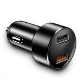 Carregador de carro de carregamento rápido FLOVEME 18W Dual USB QC3.0 para iPhone XS 11Pro Huawei P30 Pro Mate 30 5G Mi10 K30 S20 5G
