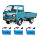 WPL D12 1/10 2.4G 2WD Στρατιωτικός ανιχνευτής φορτηγού Off Road RC Αυτοκίνητο όχημα μοντέλα παιχνίδι Διάφορες μπαταρίες Lake Blue