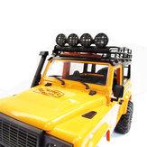 MN-90 1/12 2.4G 4WD Rc Upgrade części samochodowych Okrągłe białe światło LED Spotlight w / metalowej podstawie