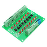 8 Channel 24V To 5V Optocoupler Isolation Module PLC Signal Level Voltage Conversion Board NPN Output DST-1R8P-N