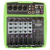 WENYANWEN Mini 4 Channel 16 DSP Effect USB Delay and Repeat Efferts Audio Mixer Console With Channel Volume Contrl