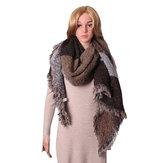 Женское Теплый кашемировый кистовидный шаль проверенный обруч украден