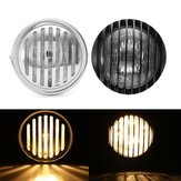 6.5inch Motorcycle Headlight Retro Grill Guard Metal Para Harley Chopper Cafe Racer
