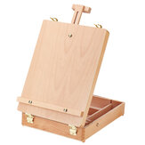 Folding Wooden Easel Sketch Table Stand Adjustable Artist Drawing Board Portable Painting Box Oil Painting Easels Art Supplies