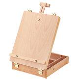 Caballete de madera plegable Soporte de mesa de dibujo Tablero de dibujo de artista ajustable Pintura portátil Caja Oil Caballetes de pintura Suministros de arte