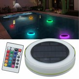 Solar Power RGB Under Water LED Garden Pond Swimming Piscina Luz flutuante
