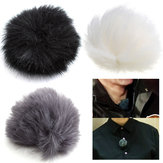 3 colores Fur Windscreedn Wind Shield Wind Muff para solapa Lavalier Micrófono Micrófono