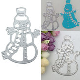 Metal Snowman Christmas Cutting Dies DIY Scrapbooking Album Paper Card Decor