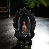 Ceramic Backflow Incense Cone Burner Godness Guanyin Buddha Buddhist Censer Holder Fragrant Furnace